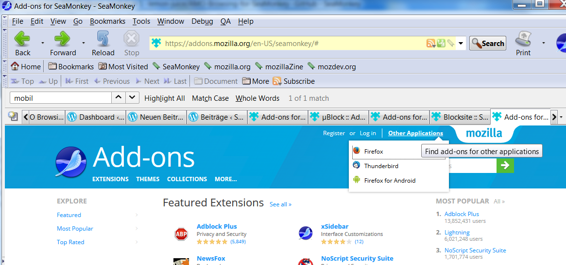 AMO Browsing for SeaMonkey: New Version 0 9 17rc1 with